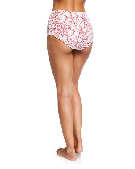 Marysia Lehi Floral High-Waist Bikini Swim Bottom