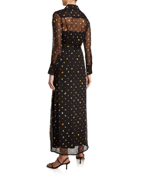Diane von Furstenberg Jean Michel Printed Shirt Dress w/ Slip