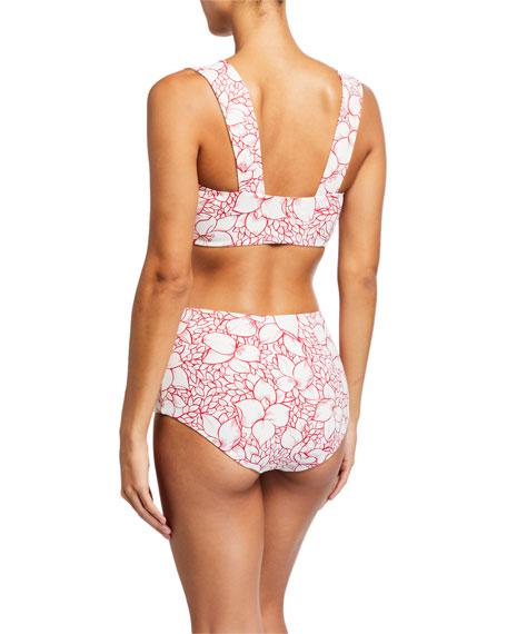 Marysia Lehi Floral-Print Bikini Top