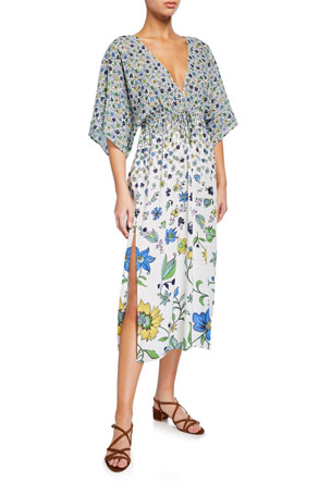 Tory Burch Printed Beach Coverup Midi Dress