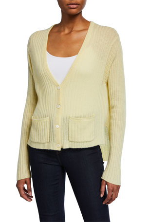 ATM Anthony Thomas Melillo Cashmere Deep V Cardigan