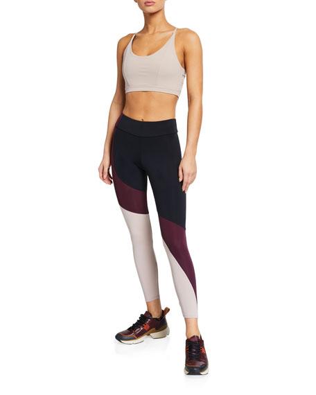 Onzie Asymmetrical Colorblock Leggings