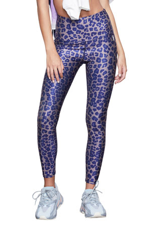 Good American Tonal Leopard High-Waist Active Leggings - Inclusive Sizing