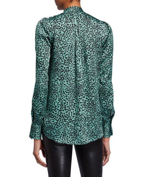 Equipment Perce Printed Button-Down Blouse