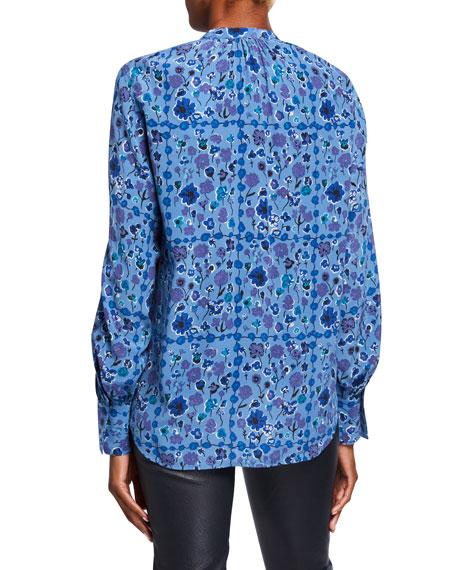 Equipment Cassette Floral Silk Button-Down Shirt