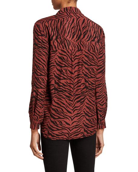 Rails Dries Tiger Stripe Long-Sleeve Button-Down Shirt