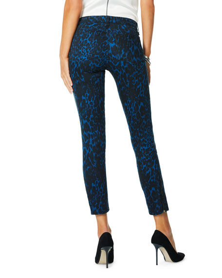 Image 3 of 4: Ramy Brook Kate Animal-Print Skinny Jeans