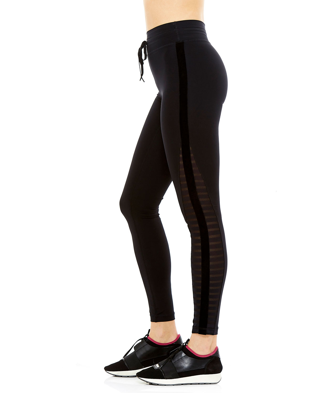 The Upside Velvet Stripe Yoga Leggings
