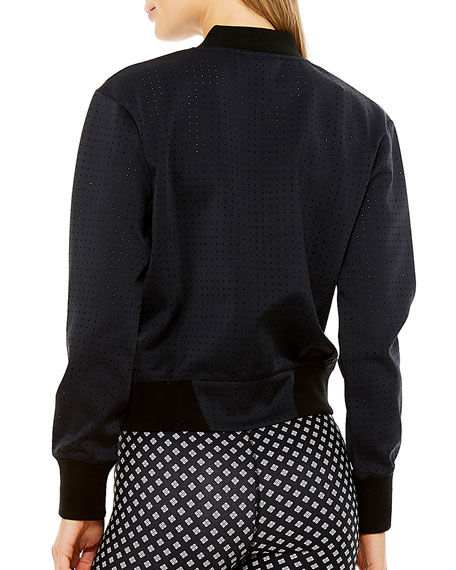 Image 3 of 4: The Upside Monica Perforated Bomber Jacket