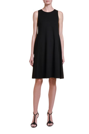 Giorgio Armani Sleeveless Jersey Trapeze Dress
