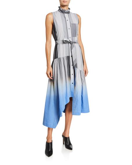 Derek Lam 10 Crosby Nerioa Dip-Dye Long Dress