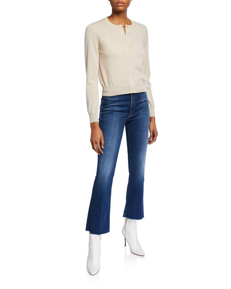 MOTHER The Hustler Ankle Fray Boot-Cut Jeans