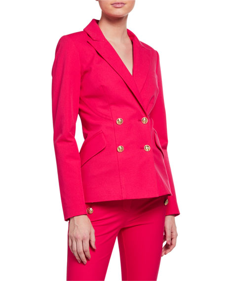 Derek Lam 10 Crosby Rodeo Double-Breasted Blazer with Sailor Buttons