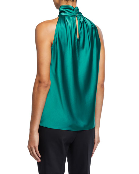 Image 2 of 2: Dover Satin High-Neck Top