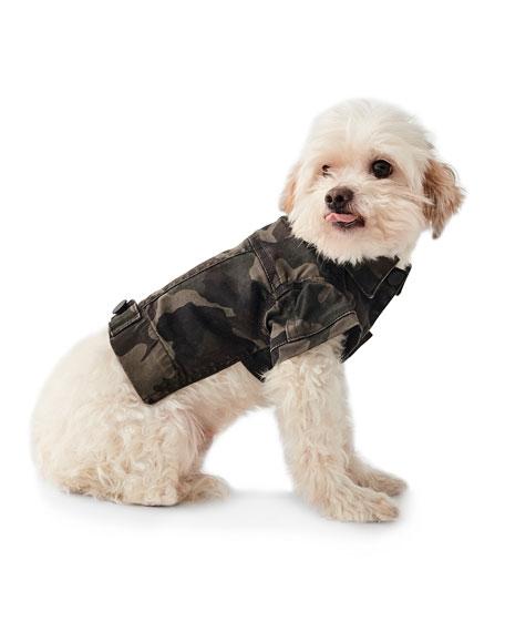 DL1961 Premium Denim Camo-Print Canine Trucker Jacket