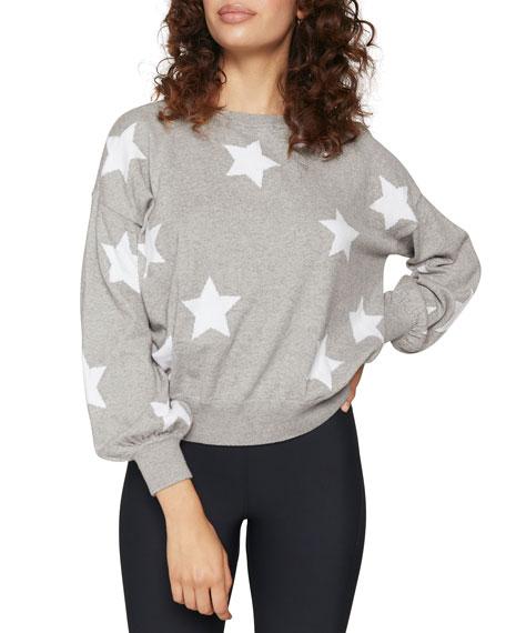 Spiritual Gangster Stars Block Party Crewneck Heathered Sweater
