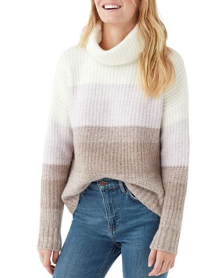 Splendid Fireside Colorblock Turtleneck Sweater