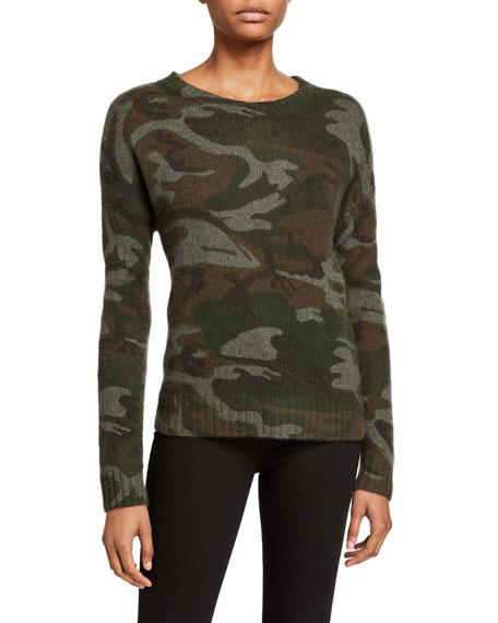 Rails Perci Jungle Camo Print Long-Sleeve Sweater