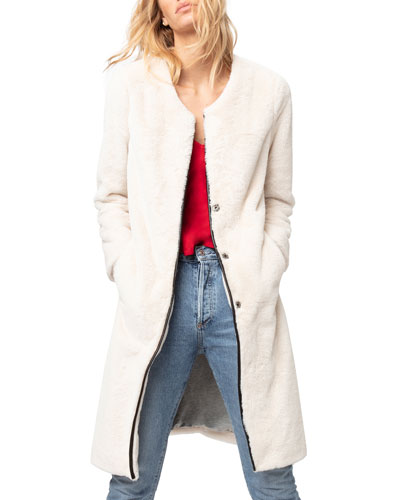 Cloud Nine Faux-Fur Duster Jacket