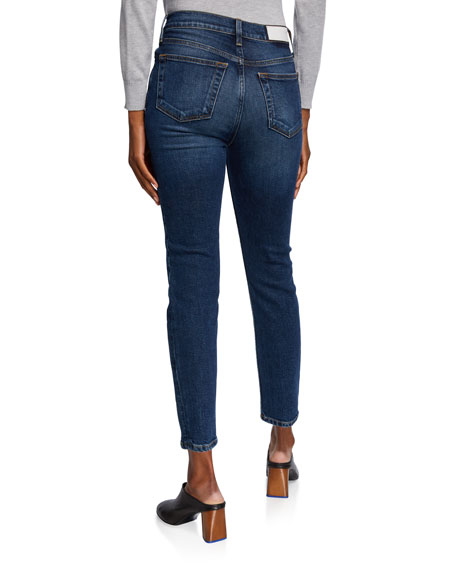 Image 2 of 3: RE/DONE High-Rise Skinny Ankle Cropped Jeans