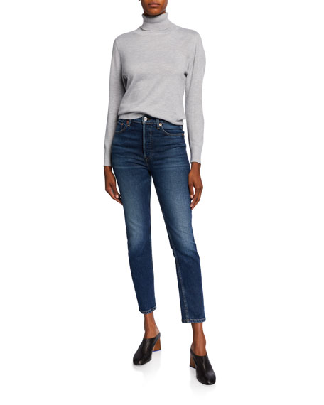 Image 3 of 3: RE/DONE High-Rise Skinny Ankle Cropped Jeans