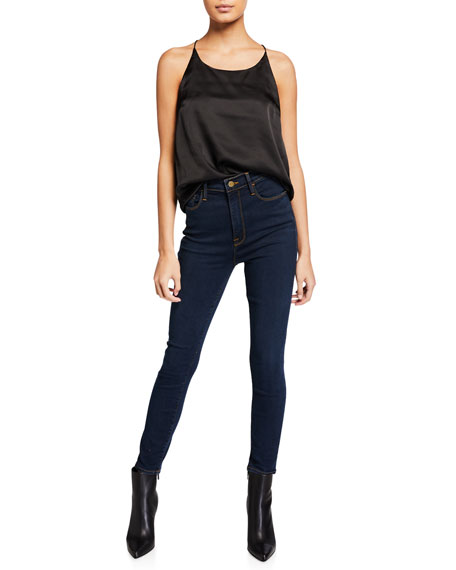 FRAME Ali High-Rise Cigarette Skinny Jeans