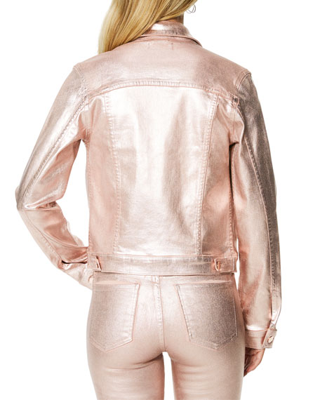Ramy Brook Claudia Metallic Cropped Jacket