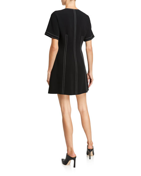 cinq a sept Caroline Zip-Front Pocket Dress
