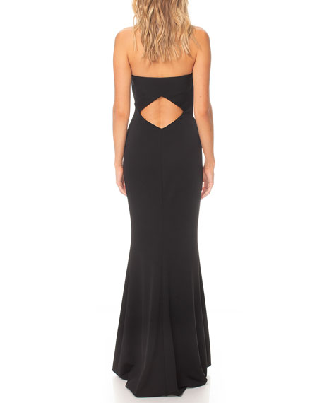 Katie May Myra Bustier Mermaid Gown w/ Back Waist Cutout