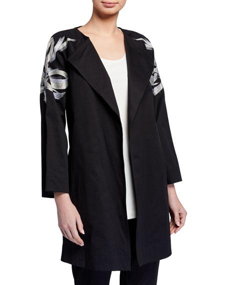 Natori Classic Cotton Twill Jacket with Tie