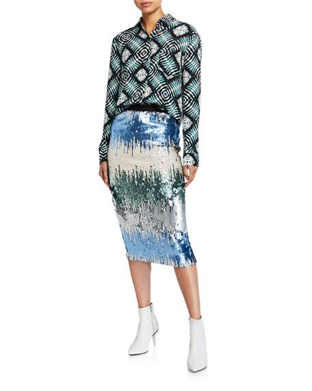 Le Superbe Liza Sequin Skirt