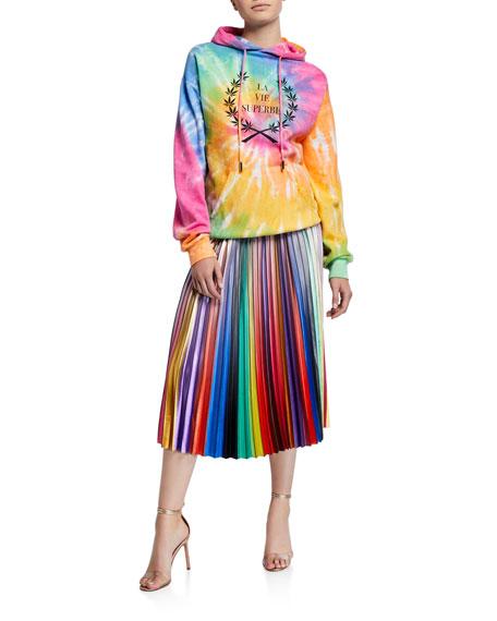 Le Superbe Rainbow Room Pleated Skirt