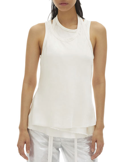 Helmut Lang Satin Double-Layered Tank