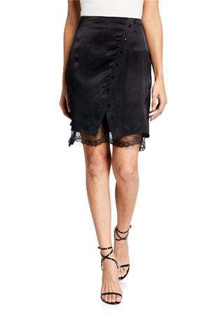 Sablyn Carmen Draped Lace Snap Skirt