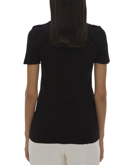 Helmut Lang Double Layer Short-Sleeve Tee