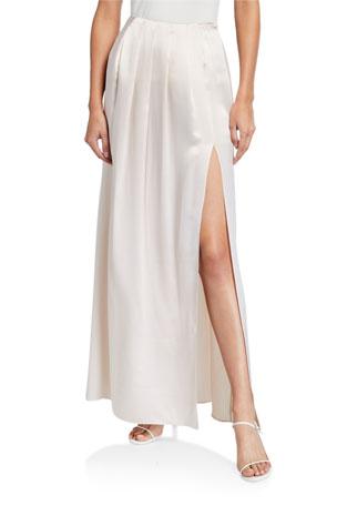 Sablyn Sandi Pleated Silk Skirt
