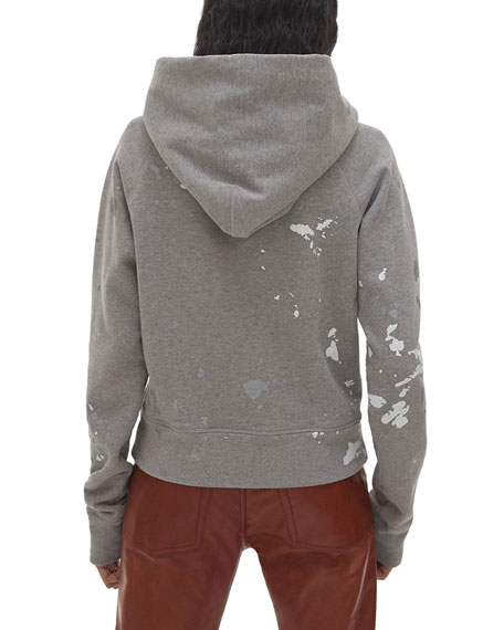 Helmut Lang Slim Splattered Logo Hoodie