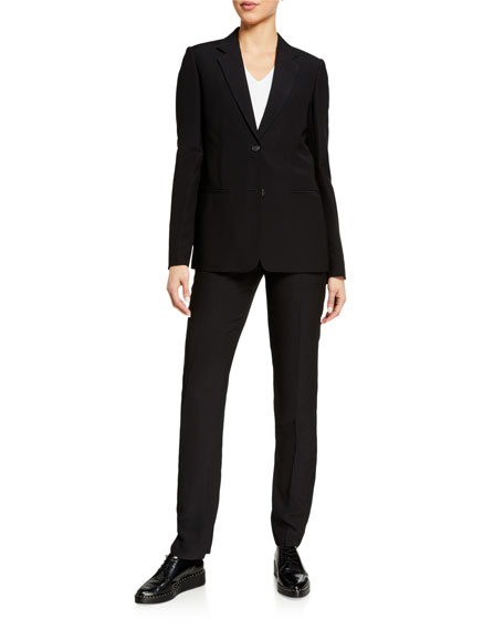 Image 3 of 3: Helmut Lang Cady Straight-Leg Suit Pants