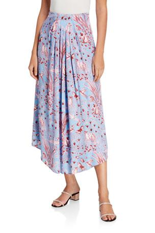 Stine Goya Blossom Printed Midi Skirt