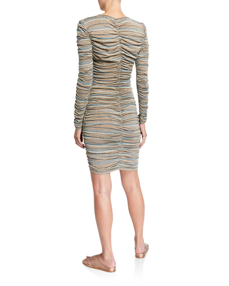 Stine Goya Blake Shirred Stripe Dress