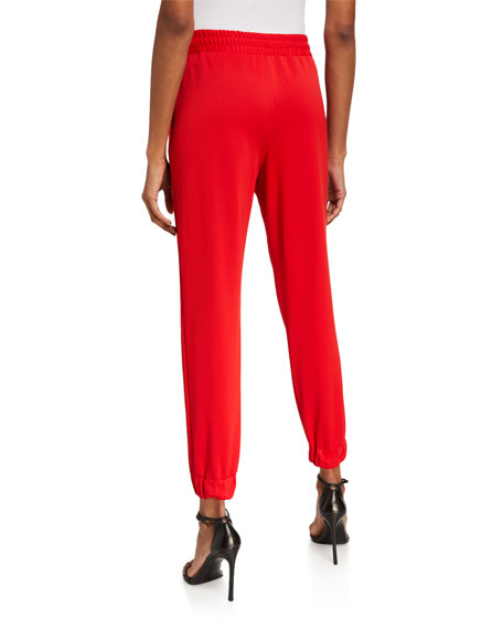 Alice + Olivia Pete Front-Pleat Pull-On Pants