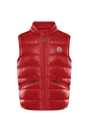 Moncler Boy's Gui Quilted Down Vest, Size 8-14