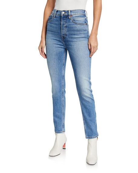 RE/DONE Ultra High-Rise Ankle Crop Skinny Jeans