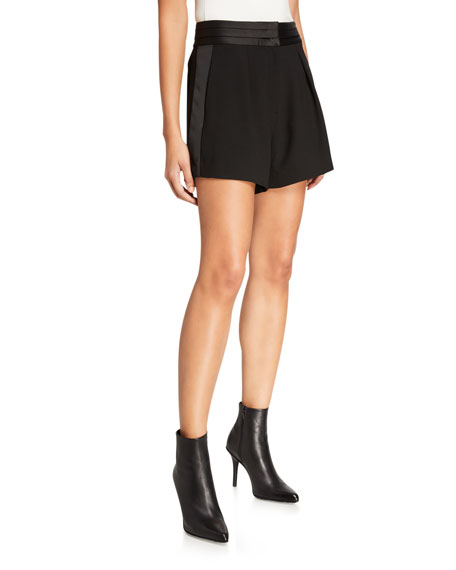 Frame Shorts High-Rise Tuxedo Shorts