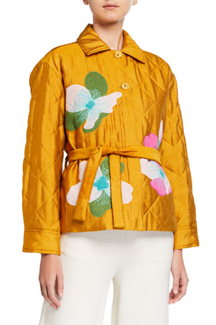 Stine Goya Miki Embroidered Quilted Jacket