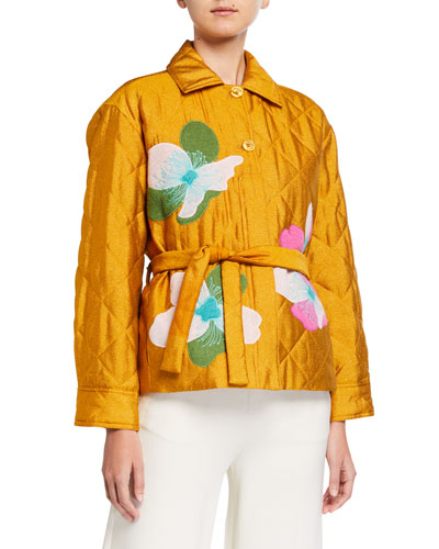 Miki Embroidered Quilted Jacket