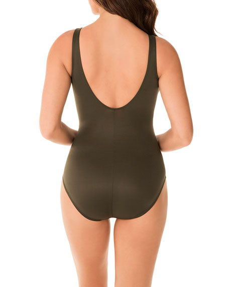 Image 3 of 3: Miraclesuit Rock Solid Twister One-Piece Swimsuit