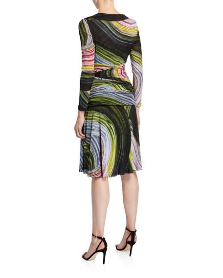 Diane von Furstenberg Sathita Long-Sleeve Faux-Wrap Dress