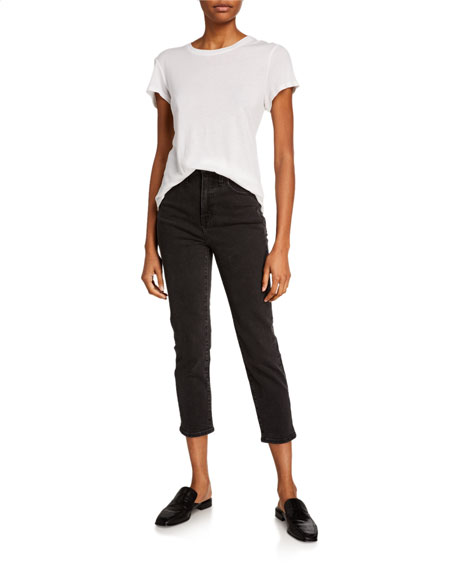 Madewell Classic Belted Straight-Leg Jeans