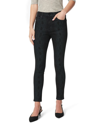 Icon Printed Mid-Rise Ankle Skinny Jeans